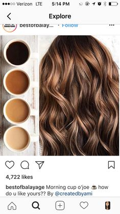 - Best Hairstyles & Haircuts for Men and Women in 2019 Brown Hair Balayage, Brown Blonde Hair, Light Brown Hair, Hair Highlights, Ombre Hair, Blonde Brunette, Bilage Hair, New Hair, Hair Affair