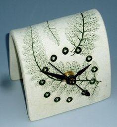 Green Fern Clock by botanicraft on Etsy, $17.00