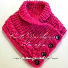 Resultado de imagen para patrones cuellos tejidos a crochet paso a paso