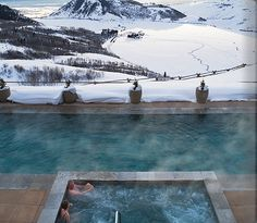 Would love to have this hot tub/pool outside my home with this view.
