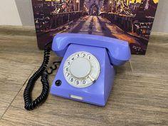 Vintage Purple phone, Old rotary phone, Lilac phone, Circle dial rotary phone, Vintage landline phone, Old Dial Desk Phone, Purple phone Lilac, Purple, Landline Phone, Retro Phone, Rotary, Desk, Telephone, Tracking Number, Vintage