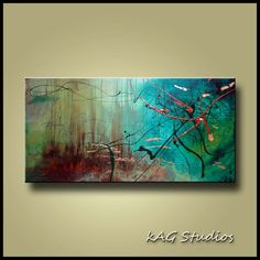 Abstract 2FT x 4 FT art Painting by Kag by kagstudios on Etsy, $279.00