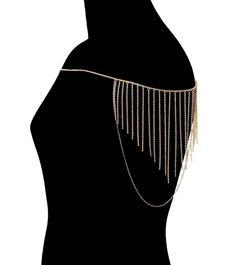 Trendy Sexy Glam Tassel Shoulder Chain Statement Fashion Body Jewelry #Chain