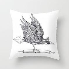 cronart Throw Pillow by cronart - $20.00