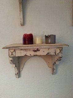 Wandregal shabby vintage furniture von LIVINGsten auf DaWanda.com