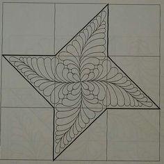 Estrela (via Margarete Crocco Preto, Quilting)