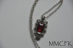 The Mortal Instruments City of Bones Isabelle Lightwood's Ruby Pendant Necklace