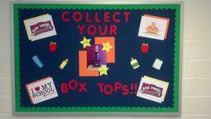Back to school box tops bulletin board 2013