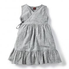 Chambray Inspired Wrap Dress for Girls | Tea Collection