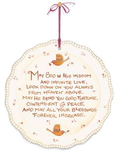 May God in his wisdom and infinite love...