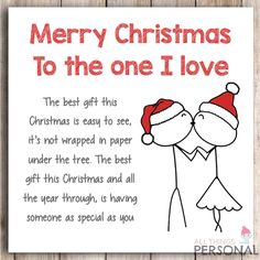 Christmas Card For Husband Wife Boyfriend Girlfriend Partner Love Christmas Card Diy Christmas Cards For Boyfriend, Christmas Love Couple, Marry Christmas Card, Christmas Love Quotes, Birthday Gifts For Boyfriend Diy, Cute Christmas Cards, Christmas Card Sayings, Christmas Poems, Personalised Christmas Cards