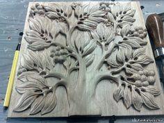 tree Wood Sculpture, Sculptures, Leaf Art, Wood Carving, Safari, Woodworking, Clay, Leaves, Statue
