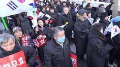 [1-14 탄기국 대학로 집회] 목사-찬양대 십자가 행진 대열