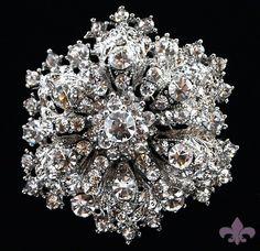 Rhinestone Brooch Pin - Rhinestone Crystal Brooch - Rhinestone Brooch - Kate Brooch. $14.95, via Etsy.