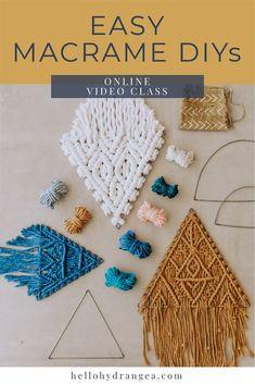 I've been working on some exciting new things for the kits that will be available this Saturday! These kits include all of the materials,… Macrame Art, Macrame Projects, Macrame Knots, Craft Projects, How To Macrame, Macrame Jewelry, Art Macramé, Yarn Crafts, Diy Crafts