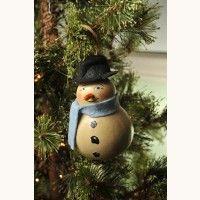 Mr. Snowman Gourd Ornament