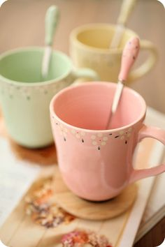Creative ceramic cup fresh candy-colored floral coffee cup lid with spoon mug cup milk cup-ZZKKO