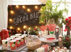 Hot Chocolate Station Ideas