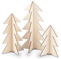 Houten-kerstbomen