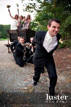 funny creative wedding photography