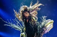 Loreen at the Eurovision contest 2012 picture by Martin Bergström - she looks like an aquatic plant dancing in the waves