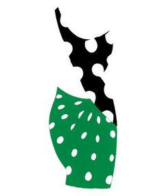 Fashion Illustration - Sirichai - monstylepin #fashion #illustration #sirchai #silhouette #rpint #polkadots
