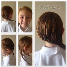 Hairline braid, back to school hair, new idea.