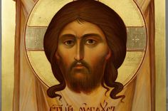 The Holy Face Mandylion Hand-Painted Byzantine Icon
