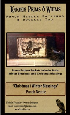 Christmas Blessings Horse And Sleigh-PUNCH NEEDLE by Kanikis