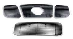 04-07 Nissan Titan/Armada Billet Grille Grill Combo Upper+Low Insert # N67992A * 3pc Main Upper grille(Bolt Over) * 1pc Lower Bumper grille(Replacement). Each grille guarantees a polished chrome color front surface and black satin powder coating back.. Air craft grade 6061-T6 aluminum solid billet grille inserts can protect the front end of your vehicle.. Sleek aluminum billet grille inserts come ... #APS #Automotive_Parts_and_Accessories