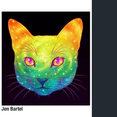 Galactic Cats: Psychedelic Illustrations Merge Cats And Area Are your cats stuffed with galactic house? Have to be a kind of off-brand fashions, not like these 'Galactic Cats' by Jen Bartel. To place it mere. Space Cat, Cat From Outer Space, Iphone Backgrounds Tumblr, Frida Art, Galaxy Cat, Russian Blue, Illustrations, Psychedelic Art, Cool Cats