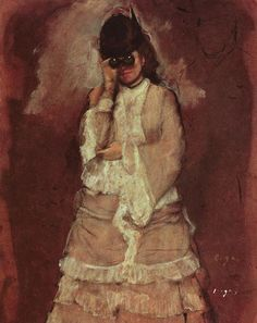 Edgar Degas, Woman with Opera Glasses