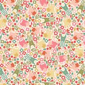 Spring is in the Air by oliveandruby, Spoonflower digitally printed fabric
