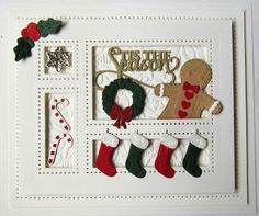 Hello there my crafty friends! I am going to sneak in another Christmas card while there is still some time left. I am always pretty p...