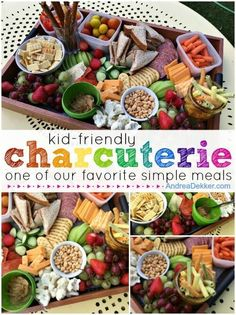 "KidFriendly Charcuterie… one of our favorite simple meals (Simple Organized Living) is part of Snack board One of our children's most favorite things to eat is ""meat and cheese"" — a k a a - Lunch Snacks, Clean Eating Snacks, Healthy Snacks, Healthy Recipes, Pool Snacks, Clean Lunches, Kid Snacks, Charcuterie And Cheese Board, Charcuterie Platter"
