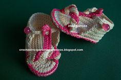 CROCHE E TRICO PARA OS PEQUENINOS: Sandália de crochê para bebe Passo a Passo