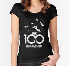 The 100 - 'Survival' T-Shirt by #BadCatDesigns. Inspired by the post-apocalyptic drama series #The100. Logo & Tagline design.