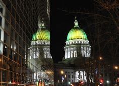 Wisconsin State Capitol Celebrating Green & by ArtsyPhotoCreations