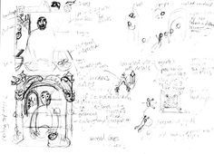 Early sketches for Brother Giovanni's Little Reward: How the Pretzel Was Born