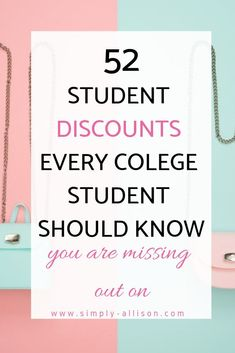 Student Discounts That Will Save You Money - College student discounts that will save you money. There are also tips on how to get student discountsCollege student discounts that will save you money. There are also tips on how to get student discounts College Student Discounts, College Freshman Tips, College Life Hacks, College Fun, Education College, College Checklist, College Dorms, Physical Education, College Binder