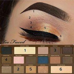 too faced semi-sweet chocolate bar palette tutorial