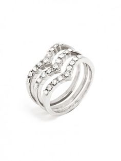 peaked rings with a little glitz.
