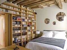 Chambre bibliotheque - Library bedroom #library