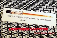 Star Wars Valentine made with a glowstick! Brilliant!! And NO candy!