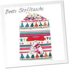 Dieses selbstgemachte Stoffsäckchen ist eine tolle Idee, um Geschenke besonders kreativ und weihnachtlich einzupacken.