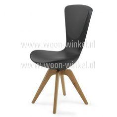 Varier Invite Leder wooden legs moderne eetkamerstoel met dynamische kanteling