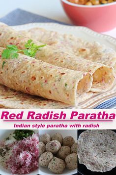 Delicious and flavorful indian style paratha made from wheat flour, grated radish and some spices. #paratha #indianparatha Roti Paratha Recipe, Paratha Recipes, Sweets Recipes, Indian Food Recipes, Healthy Recipes, Ethnic Recipes, Indian Flat Bread, Red Chili Powder, Food Categories