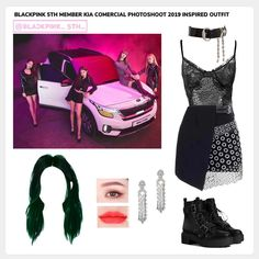 Blackpink Fashion, Kpop Fashion Outfits, Stage Outfits, Girl Outfits, Kpop Mode, Bts Inspired Outfits, Jugend Mode Outfits, Retro Outfits, Outfit Sets