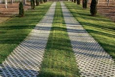 TurfStone's distinctive honeycomb pattern servers both a visual and functional purpose. Fill it with grass or gravel for a modern look that also filters rainwater runoff and prevents erosion. Available only in Gray color.