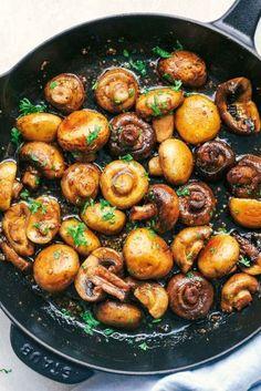 Honey-balsamic-garlic mushrooms - recipes - Honey Balsamic Garlic Mushrooms 4 Informations About Honig-Balsamico-Knoblauch-Pilze – Rezepte de - Marinated Mushrooms, Roasted Mushrooms, Garlic Mushrooms, Stuffed Mushrooms, Balsamic Mushrooms, Healthy Recipes, Healthy Eating Tips, Healthy Snacks, Vegetarian Recipes